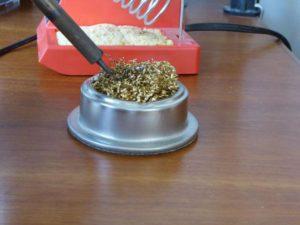 Brass Sponge Tip Cleaning