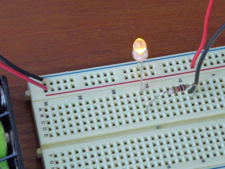 If your led does not light up then flip your switch. If it still does not work check your wiring. : breadboard wiring - yogabreezes.com