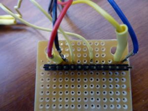 Top Of Soldered Perfboard