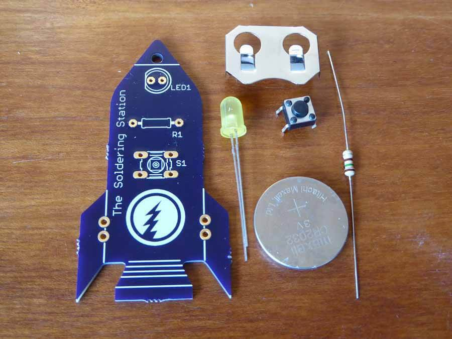 Learn To Solder Kit Parts