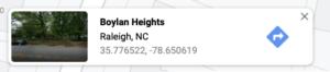 Google Coordinates